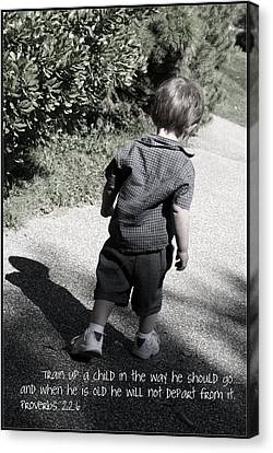 Train Up A Child Canvas Print by Ethan Babler