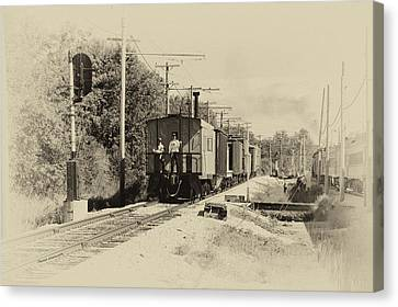 Trains Caboose Heirloom Canvas Print by Thomas Woolworth