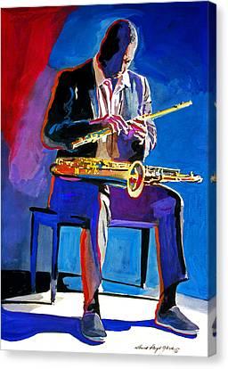 Trane - John Coltrane Canvas Print by David Lloyd Glover