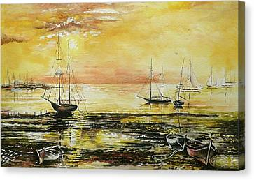 Tranquil Tide Canvas Print by Andrew Read