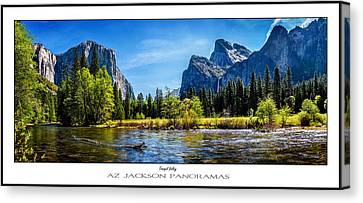 Tranquil Valley Poster Print Canvas Print by Az Jackson