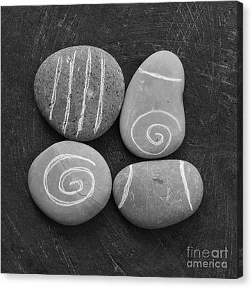 Tranquility Stones Canvas Print by Linda Woods