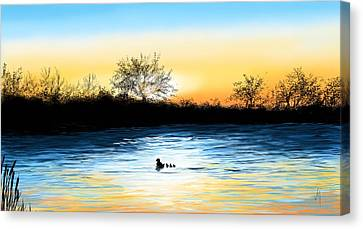 Tranquility Canvas Print by Veronica Minozzi