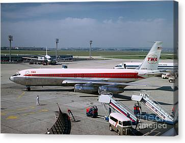 Trans World Airlines Twa Boeing 707 N780tw Canvas Print by Wernher Krutein