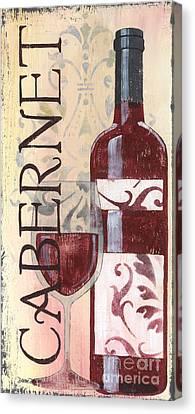 Transitional Wine Cabernet Canvas Print by Debbie DeWitt