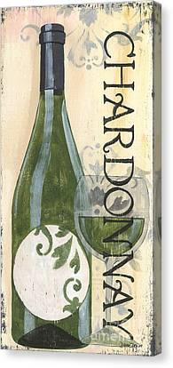 Transitional Wine Chardonnay Canvas Print by Debbie DeWitt