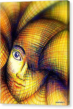 Transmutation Of The Forms Canvas Print by Paulo Zerbato