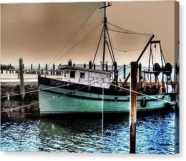 Trawler Bristol Ri Canvas Print by Jack TetreaultTom Prendergast