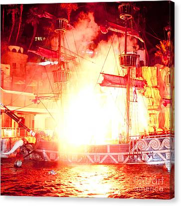Treasure Island Explosion Canvas Print by Andy Smy