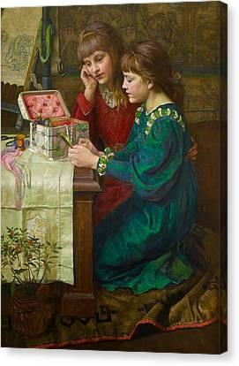 Treasures Canvas Print by Marian Huxley