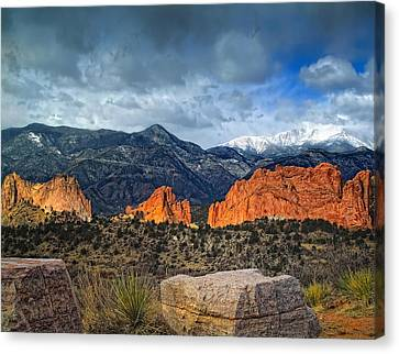 Treasures Of Colorado Springs Canvas Print by Tim Reaves
