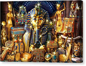 Treasures Of Egypt Canvas Print by Andrew Farley