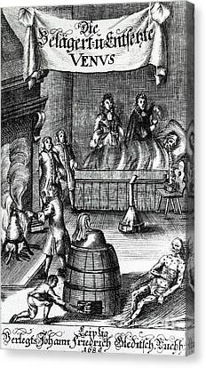 Treatments For Syphilis, 17th Century Canvas Print by Science Source