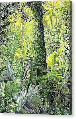 Tree In Garden Canvas Print by Fay Biegun - Printscapes