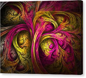 Tree Of Life In Pink And Yellow Canvas Print by Tammy Wetzel