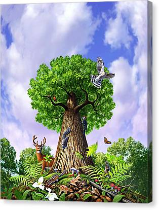 Tree Of Life Canvas Print by Jerry LoFaro