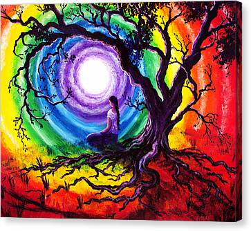Tree Of Life Meditation Canvas Print by Laura Iverson