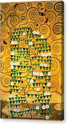 Tree Of Life Stoclet Frieze Canvas Print by Gustav Klimt