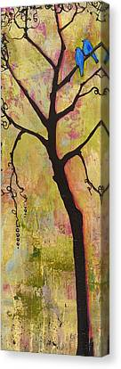 Tree Print Triptych Section 1 Canvas Print by Blenda Studio