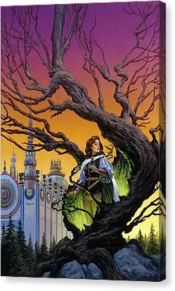 Tree Sorceress Canvas Print by Richard Hescox