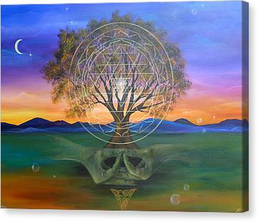 Tree Yantra Canvas Print by Sundara Fawn