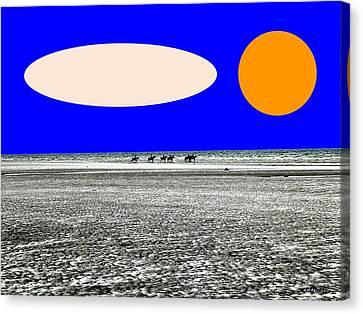 Trekking Canvas Print by Patrick J Murphy