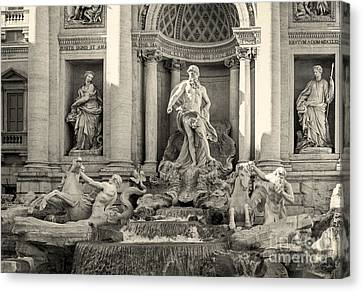 Trevi Fountain Canvas Print by Prints of Italy