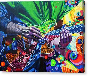 Trey Anastasio 4 Canvas Print by Kevin J Cooper Artwork