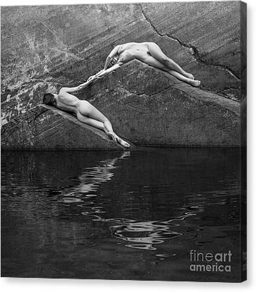 Triangular Reflection Canvas Print by Inge Johnsson