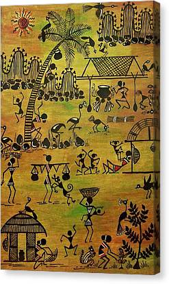 Tribals I Canvas Print by Ivy Sharma