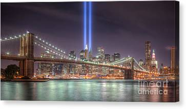 Tribute In Light IIi Canvas Print by Clarence Holmes