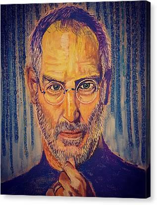 Tribute To A Great Mind Steve Jobs Canvas Print by Adekunle Ogunade