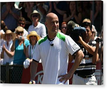 Tribute To Agassi Canvas Print by Anne Babineau