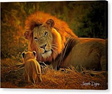Tribute To Cecil Canvas Print by Leonardo Digenio