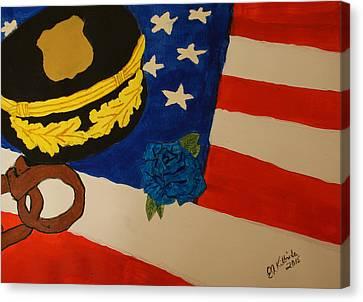 Tribute To Law Enforcement Canvas Print by Elizabeth Kilbride