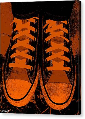Trick Or Treat Feet Canvas Print by Ed Smith