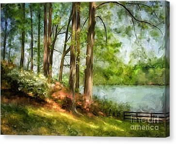 Tridelphia Lake In May Canvas Print by Lois Bryan