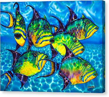 Trigger Fish - Caribbean Sea Canvas Print by Daniel Jean-Baptiste