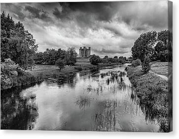 Trim Castle And The River Boyne Canvas Print by Martina Fagan