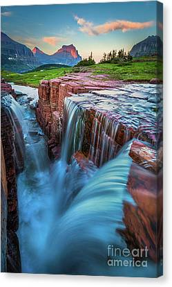 Triple Falls Dusk Canvas Print by Inge Johnsson