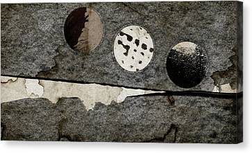 Triple Lunacy Abstract 1 Canvas Print by Carol Leigh
