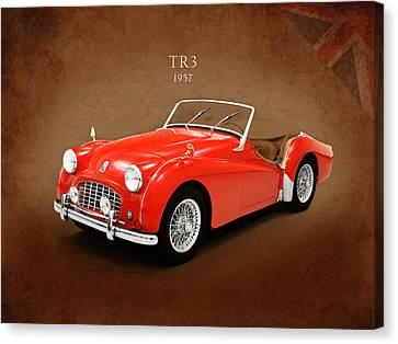 Triumph Tr3 1957 Canvas Print by Mark Rogan