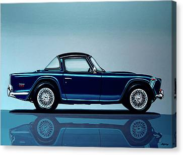 Triumph Tr5 1968 Painting Canvas Print by Paul Meijering