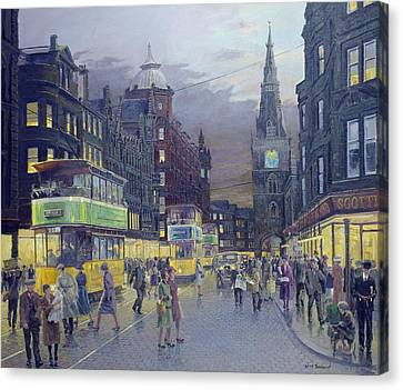 Trongate Glasgow Canvas Print by William Ireland