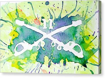 Troopers Logo Canvas Print by Feliza Estrada