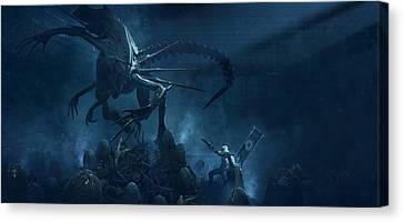 Troopers Vs Space Cockroaches 5 Canvas Print by Guillem H Pongiluppi