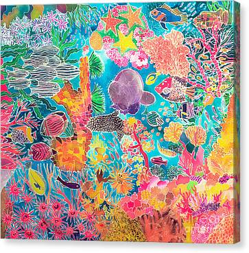 Tropical Coral Canvas Print by Hilary Simon