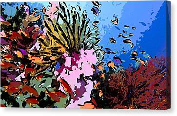 Tropical Coral Reef  2 Canvas Print by Lanjee Chee