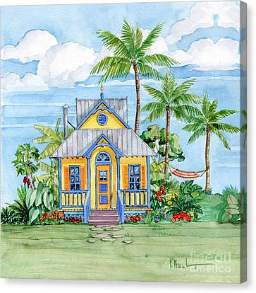 Tropical Cottage II Canvas Print by Paul Brent