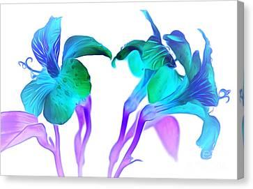 Tropical Daydream Canvas Print by Krissy Katsimbras